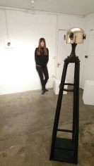 Artist at gallery